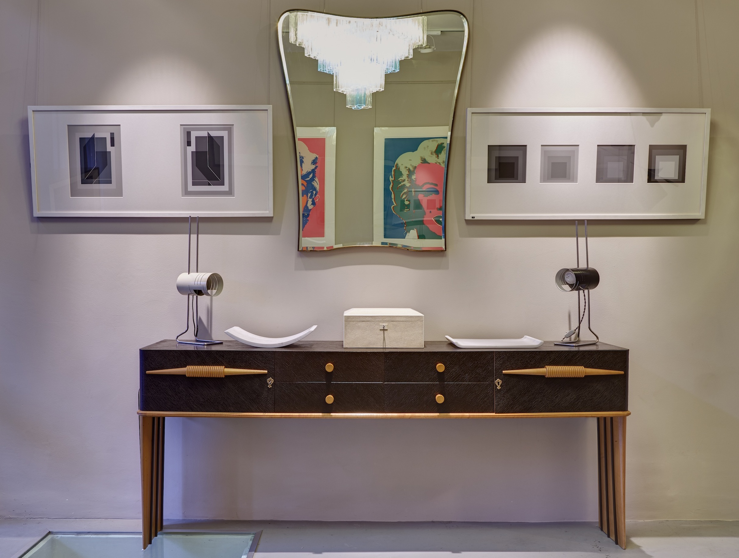 Mid-Century to Modern Furniture, Lighting and Artwork