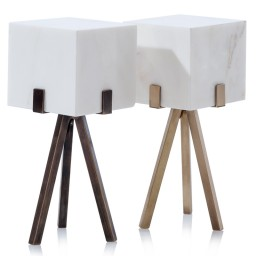Marble and solid bronze table lamps
