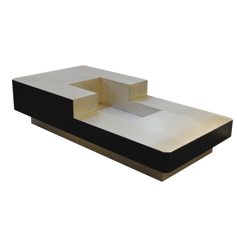 Brushed Aluminium coffee table