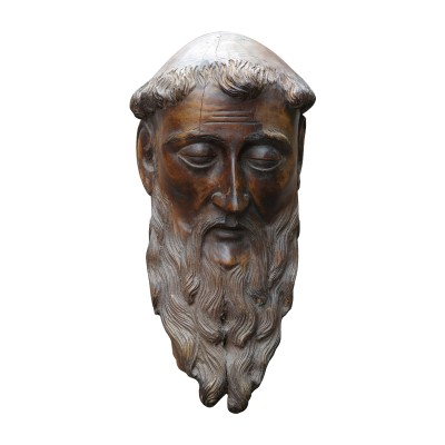 wooden carved head