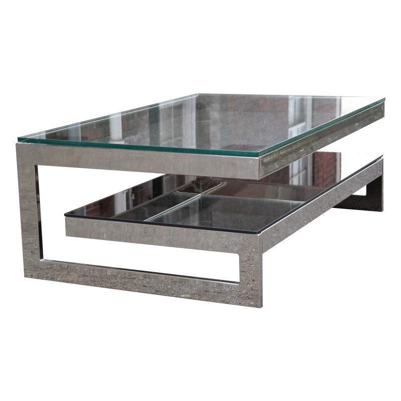 Chrome and glass coffee table G- Table