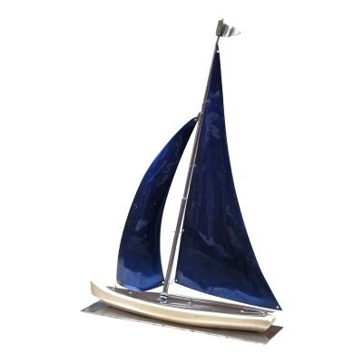 Chrome sail boat