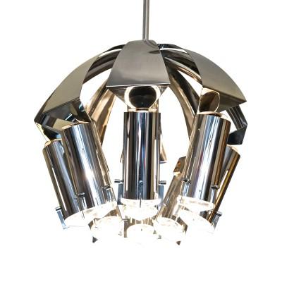 Chrome chandelier