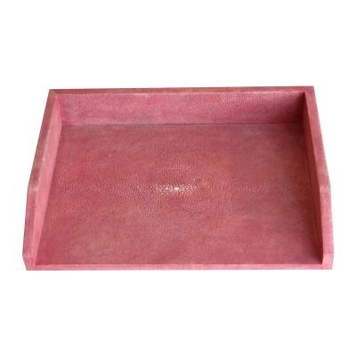Shagreen letter tray