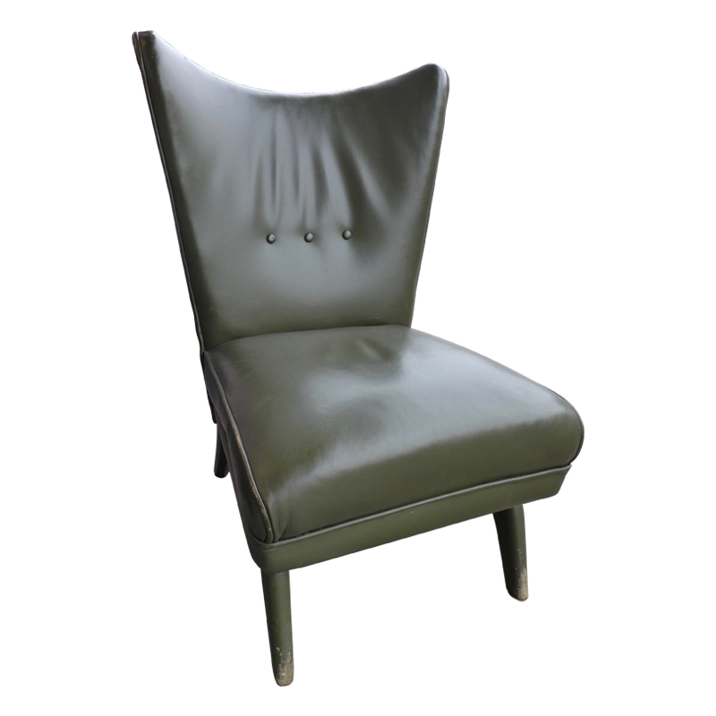 Astounding Green Leather Italian Wing Back Lounge Chair The Design Camellatalisay Diy Chair Ideas Camellatalisaycom
