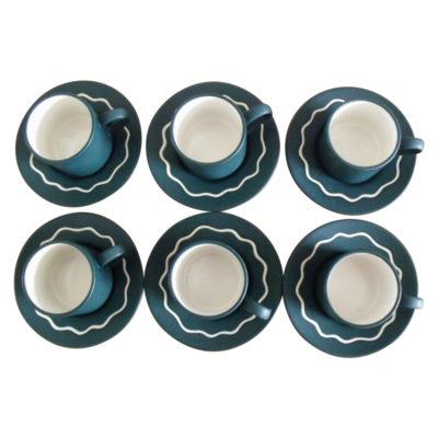 "Habitat ""Ripple"" cup and saucer set"